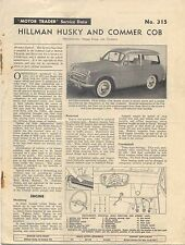 Hillman Husky and Commer Cob Motor Trader Service Data No. 315 1959