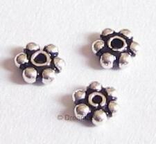 20x BALI Sterling Silver Round DAISY SPACER Beads 3.5mm