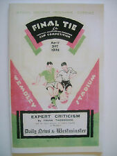 1928 FA Cup final programme,Ticket & free teamsheet Blackburn R v Huddersfield T