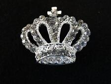 EXCEPTIONAL SHIMMERY LARGE RHINESTONE PIERCED CROWN BUTTON