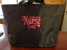 NURSE TOTE Bag RN LPN CNA  MEDICAL OFFICE HOSPITAL PERSONALIZED EMBROIDERED