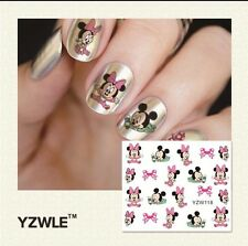 Mickey Mouse Cartoon Nail Art Water Transfer Decal Decoration Stickers YZE118