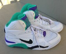 537330-102 Nike Air Force 180 Mid White/Black/Atomic Teal/Hyper Grape - Size 12