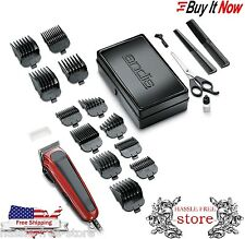 Professional Barber Set Shaver Clipper Trimmer Combo Andis 20-Piece Hair Ki