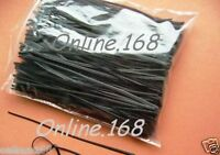 "Plastic Coated Wire Ties Twist Ties 1000pcs 6""/150mm BLACK  FREE P&P"