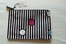 BNWT Lulu Guinness Spot On Stripe Make Up Bag. Gift Idea!