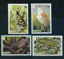 JERSEY, 1989 WWF ANIMALI **, FDC, maximk., (7465-67)