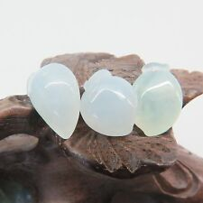 1PCS Natural Grade A Jade (Jadeite) loose Peach bead Pendant / Size: 13mm L