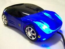 Blue Wired Car Shape USB 3D 800 DPI Optical Mouse Mice For PC/Laptop DH
