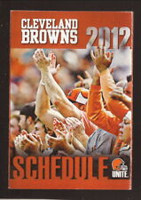 2012 Cleveland Browns Schedule--Cleveland Clinic