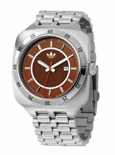 NEW ADIDAS GENTS RED DIAL STAINLESS STEEL BRACELET ALUMINUM WATCH ADH1928