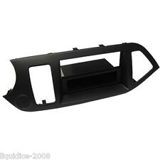 CT24KI21L FOR KIA PICANTO 2011 ONWARDS BLACK SINGLE OR DOUBLE DIN L.H.D FASCIA