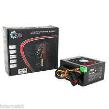 750w BLACK EDITION ACE SINGLE RAIL ATX PSU Alimentatore-SATA-PCI-E - PFC