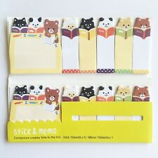 90 Sheets Cute Bears Animal Mini Sticky Notes Page Marker Memo Tab Sticker