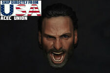 1/6 Rick Grimes Head Sculpt The Walking Dead For Hot Toys USA SELLER *IN STOCK*