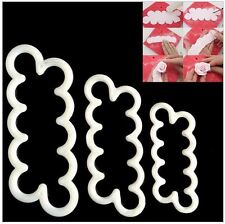 The Easiest Rose Ever Cutter - 3 Piece Set - Sugar Rose Cutter Set of 3