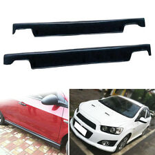 Hi-Q PP Matte Car Side Skirt Decorate Strip For Chevrolet Aveo/Sonic Sedan 11-16