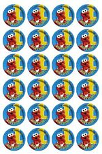 24 x Elmo 1st Birthday Edible image cupcake toppers Pre-Cut