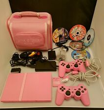 PS2 Pink Slimline Console Bundle + 2 Contollers &  Games playstation 2 extras