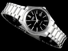 Casio Ladies Black Analog Steel Bracelet Date Display Watch LTP1183A-1AD New