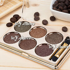 6 Warm Colors Makeup Smokey Eye Shadow Shimmer Nude Smoky Eyeshadow Brown Kit