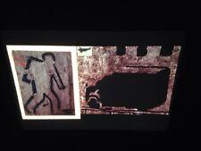 """Eugene Brodsky """"Truck/man 1987"""" Modern Art 35mm Slide"""