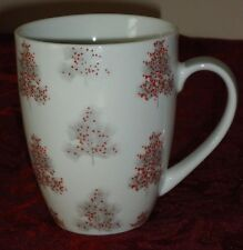 Silver Christmas Tree w/Red Decorations porcelain coffee MUG by Kelly Ventura