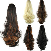 Long Ponytail Hair Extensions Hair Wavy Curly Jaw Claw Clip In Hair Pieces