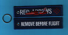Red Arrows Remove Before Flight embroidered Key Ring (50th Anniversary) - New