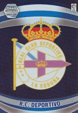 N°091 ESCUDO BADGE LOGO # RC.DEPORTIVO CARD PANINI MEGA CRACKS LIGA 2008