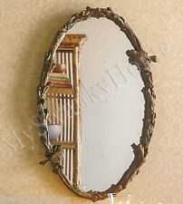 """Large BIRD BRANCH PLAZA OVAL 34"""" Wall Mirror Vanity Mantle Horchow Tree Arch"""