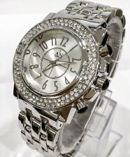 Women Ladies Wrist Watch Silver Classic Metal Steel Strap Luxury Diamante Bling