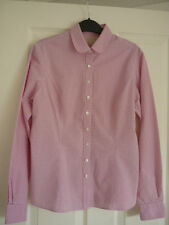 FENN WRIGHT MANSON STUDIO PINK WHITE SPOT STRIPE SHIRT UK 12, EUR 38, US 8. FAB