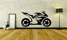 Wall Sticker Decal Vinyl Decor Motorcycle Speed Racer Fire Honda Sport