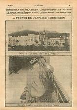 Panorama Hôtel & Château de San Salvadour Hyères Var Provence 1910 ILLUSTRATION