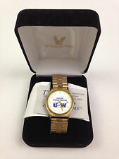 USW UNITED STEELWORKERS Watch American Time Vintage Gold Toned Mens Not Working