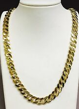 """14k Solid Gold Handmade CURB Link Men's chain/necklace 20"""" 100 grams 11MM"""