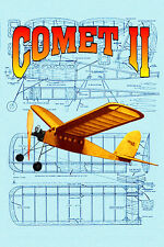 "COMET II Co2  POWER 23"" SPAN MODEL AIRPLANE PLANS & BUILDING NOTES"