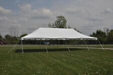20x40 White Pole Tent New Economy Line Party Tents Wedding Frame TENTANDTABLE