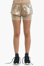 NEW Adidas by Stella McCartney Run 2 in 1 Shorts SIZE S $65 Metallic Copper