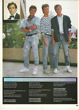 A-HA Living Daylights lyrics magazine PHOTO / Pin Up / Clipping 11x8 inches