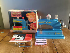 VINTAGE BOXED METAL 1950'S VULCAN JUNIOR CHILD'S SEWING MACHINE MINIATURE TOY
