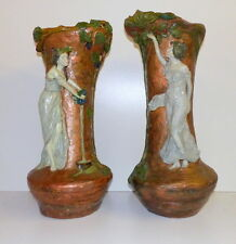 IMPORTANT HUGE PAIR OF ART NOUVEAU VASES FRENCH ZSOLNAY GOLDSCHEIDER AUSTRIA ?