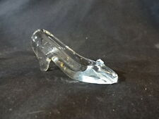 """Collectible Crystal Glass Slipper Shoe 3"""" Long"""