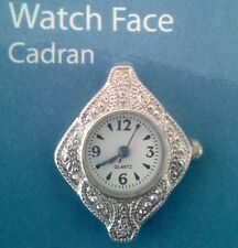 Watch Face Silver Plated Add Beads Stones Casual 32mmx27mmx7mm New Needs Battery