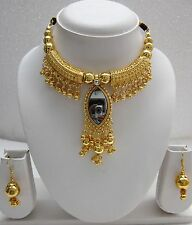 Gold pl India Jewelry Classical Ethnic Festival Sari Bollywood Belly dance 1417