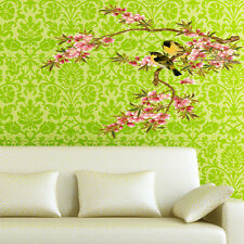Birds On Flower Branch Wall Stickers PVC Decal Mural Art Home Room Decor 50x70CM