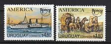 America UPAEP Mail ship boat horse stagecoach URUGUAY Sc#1543/4 MNH STAMP cv$6