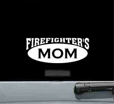 firefighters mom vinyl decal sticker pride hero brave love fire fighter