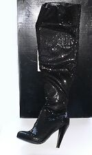 Colin Stuart Victoria's Secret Sequin Stretch Thigh High Boots 38